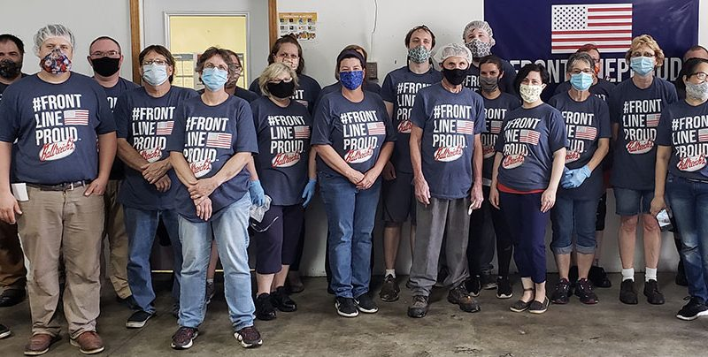 Local family creates #FRONTLINEPROUD to support essential workers; Ballreich joins mission with logo on T-shirts, chip boxes