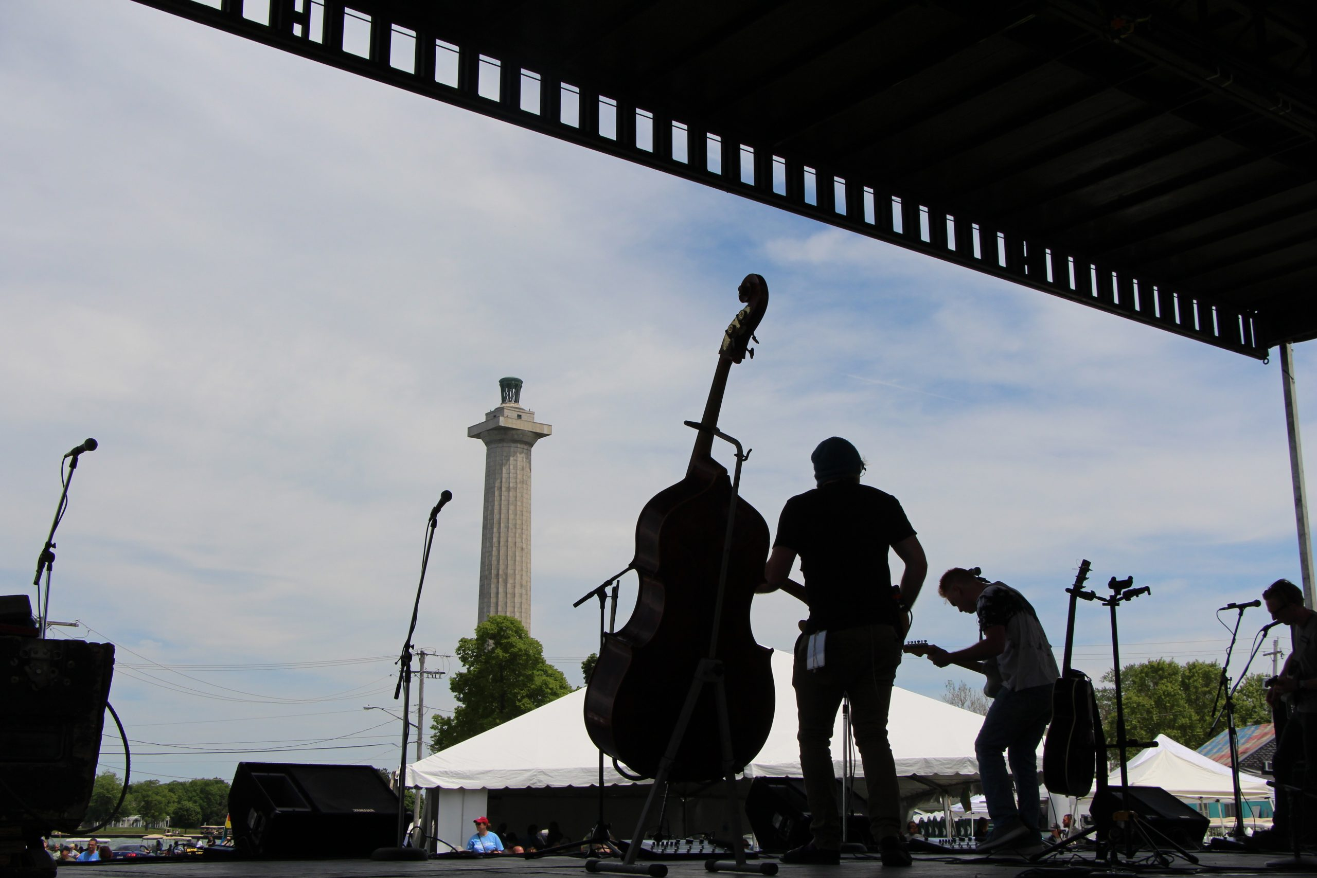 Image of a band at the Put-In-Bay Music Festival